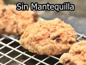 receta degalletas de avena sin mantequilla