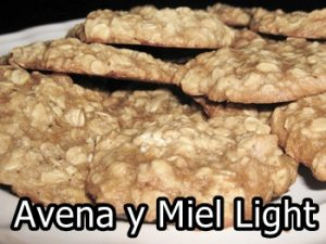 receta de galletas de avena y miel light