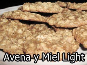receta de galletas de avena y miel light
