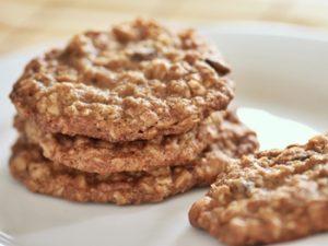 receta de galletas de avena y miel