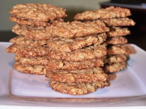 receta de galletas de avena y pasas light