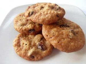 receta de galletas de avena y pasas light